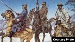 Татарские воины Великого княжества Литовского. Фрагмент иллюстрации.