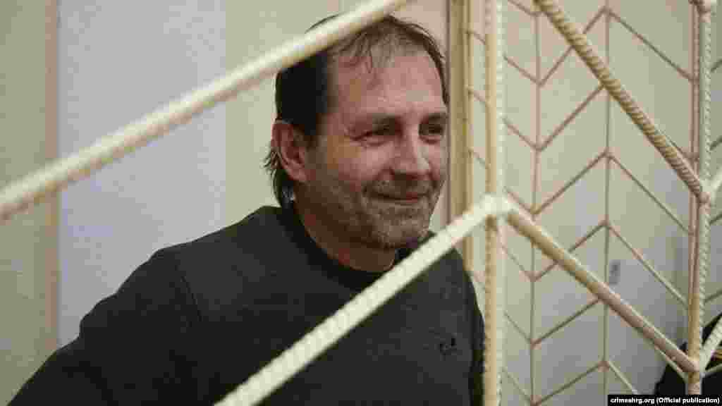 Український активіст Володимир Балух під час судового засідання