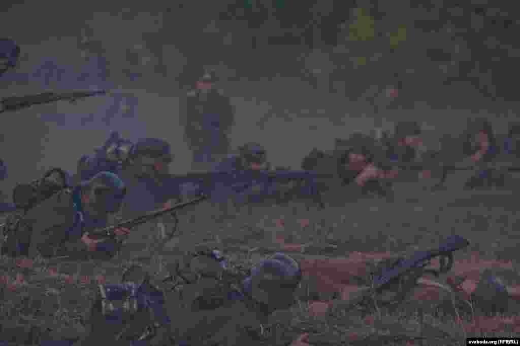 Рэканструкцыя першага дня абароны Ўсходняга форта Брэсцкай крэпасьці