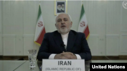 Iran's Foreign Minister Mohammad Javad Zarif addressed the UN Security Council on June 30 by video link regarding the arms embargo.