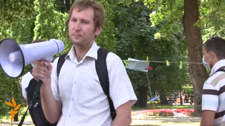 У Києві невідомі спробували зірвати акцію на захист прав людини у Білорусі
