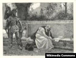 Ссора Архимеда и римского солдата, которая, по легенде, привела к смерти философа