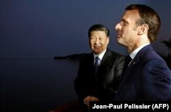 Emmanuel Macron și Xi Jinping, 24 martie 2019