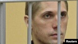 Өлім жазасына кесілген Владислав Ковалев. Минск, 15 қыркүйек 2011 жыл.