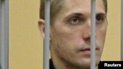 Владислав Ковалев на скамье подсудимых по делу о теракте в минском метро. Минск, 15 сентября 2011 года.