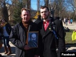 Леонід Кузьмін на акції в день народження Шевченка