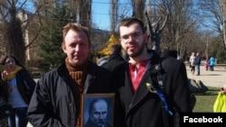Леонид Кузьмин на акции в день рождения Шевченко