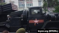 Російська військова техніка на параді в Севастополі, 9 травня 2018 року