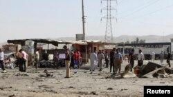 مواطنون في موقع تفجير بطوز خورماتو