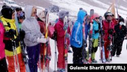 برگزاری مسابقات ورزشی در فصل زمستان در ولایت بامیان