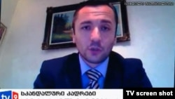 Vladimer Bedukadze in a screen grab from Georgia's Channel 9