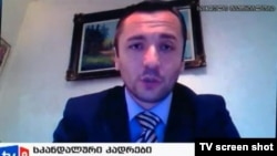 A screen grab of Vladimer Bedukadze, the man who provided the prison torture videos to media in the run-up to the October elections.