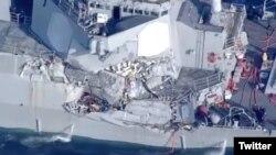 تصاویر منتشر از ناو «یواساس فیتزجرالد»