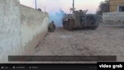 БТР с узбекскими боевиками-смертниками.