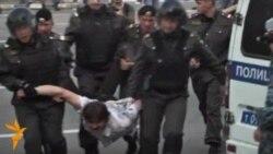 Мәскәү полициясе оппозиция митингындагыларны тоткарлый