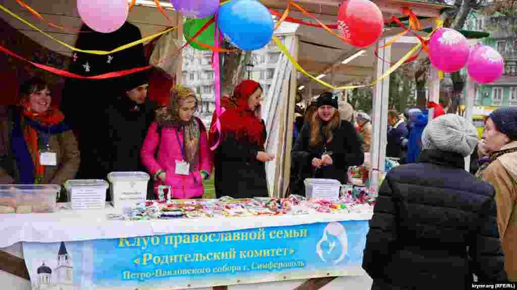 Благотворительная ярмарка от местной епархии