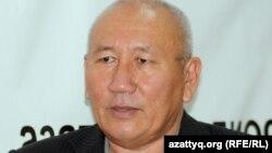 Бисенгул Бегдесенов, лидер казахской общины в Туркменистане, в алматинском бюро Азаттыка.