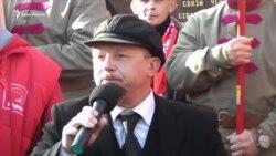 Митинг в Севастополе (Крым) в честь 100-летия Октябрьской революции