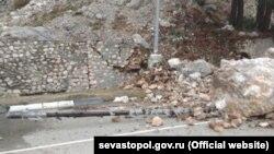 Yalta-Aqyar yolunda eşilüv, 2018 senesi, dekabr 26