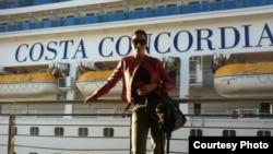 Лола Агеева Costa Concordia кемасига чиқишдан аввал тушган сурат.