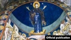Илустрација: Фрески во црквата Света Богородица Перивлепта во Охрид.