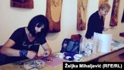 Učesnice likovne kolonije u Livnu