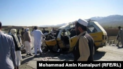 File photo a traffic accident in Afghanistan.
