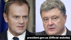Дональд Туск і Петро Порошенко