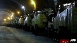 Кадри з підземного тунелю, оприлюднені 14 жовтня державним телебаченням Ірану