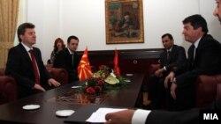 Претседателот Ѓорѓе Иванов на средба со албанскиот претседател Бамир Топи