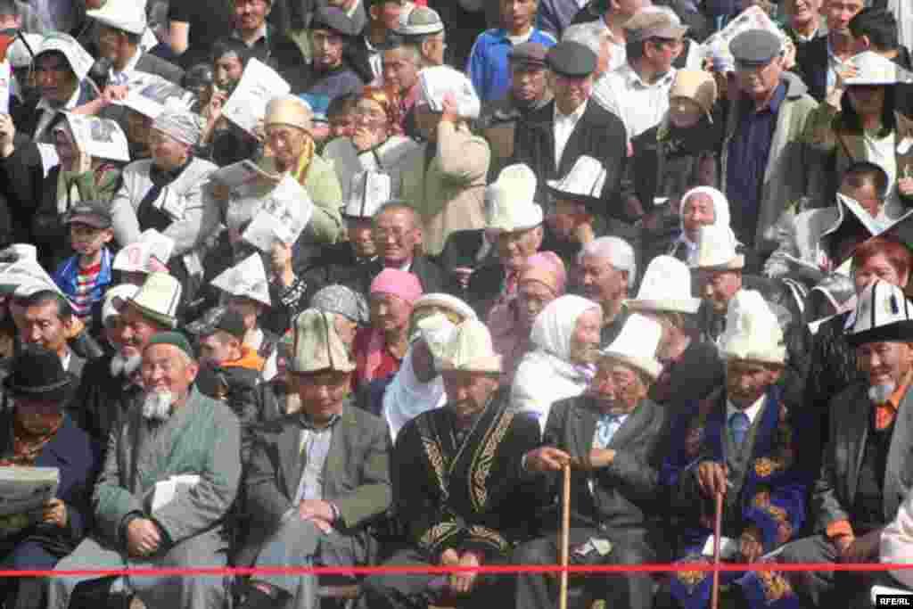 Kyrgyzstan -- Grand Congress (Eldik Kurultay) of United Popular Movement In the Village of Arashan Near Bishkek,25april2009