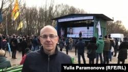 Соломон Гинзбург на акции памяти Бориса Немцова в Калининграде