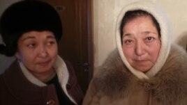 Самалхан Кожабекова (справа), сестра погибшего по время Жанаозенских событий Жанабергена Кошерова.