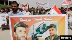 أتباع التيار الصدري يحتجون في بغداد ضد إمكانية وجود قوات عسكرية أميركية في العراق