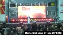 Nga tubimi i partisë së kryeministrit të Maqedonisë, Nikolla Gruevski, të dielën në Shkup.