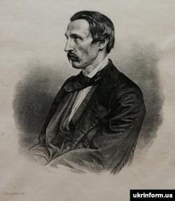 Портрет Пантелеймона Куліша, за основу якого взято зображення письменника на літографії 1860 року