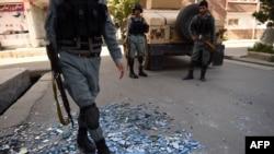 حضور ماموران امنیتی در محل انفجار