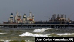 VENEZUELA -- The Iranian oil tanker Fortune is anchored at the dock of El Palito refinery near Puerto Cabello, May 25, 2020