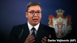 Serbian President Aleksandar Vucic (file photo)
