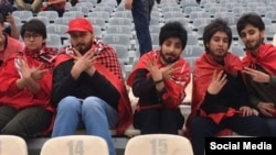 Iranian women enter stadiums guised as men to watch a domestic football match on Friday 27, 2018