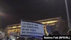 Mânie și Umor. 100.000 de oameni la București în a patra zi de proteste