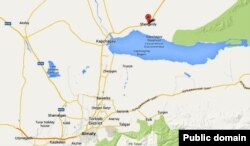 Село Шенгельды Алматинской области на карте.