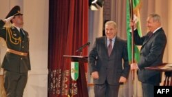Инаугурация де-факто президента Абхазии Сергея Багапша