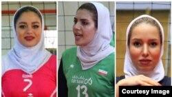 از راست شقایق شفیع ۳ سال، نگین شیرتری ۲ سال و مونا رمضانی یکسال محروم شدهان