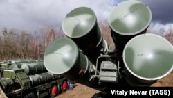 RUSSIA -- An S-400 Triumf anti-aircraft missile system is deployed in The Kaliningrad region, March 11, 2019