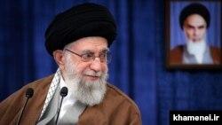 Iran -- Iran's Supreme Leader Ali Khamenei delivers a speech in Tehran, March 20, 2021.