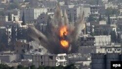 Սիրիա - ԱՄՆ գլխավորած կոալիցիայի օդուժը ռմբակոծում է Քոբանի քաղաքը, հոկտեմբեր, 2014թ․