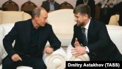 Президент РФ Владимир Путин и глава Чечни Рамзан Кадыров, иллюстративное фото
