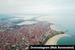 Портове місто Констанца в Румунії