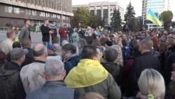 У центрі Запоріжжя протестували проти «формули Штайнмаєра» – відео